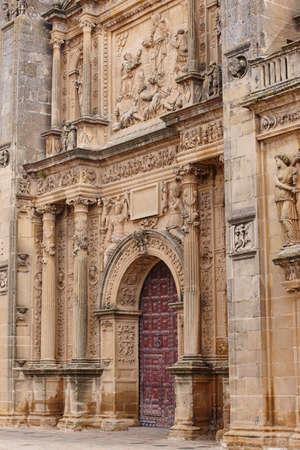 El Salvador chapel facade. Jaen, Spain