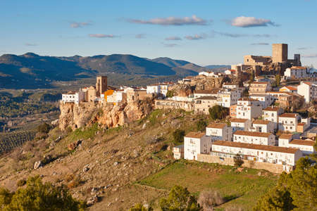 Traditional white village in Andalucia. Hornos. Spain