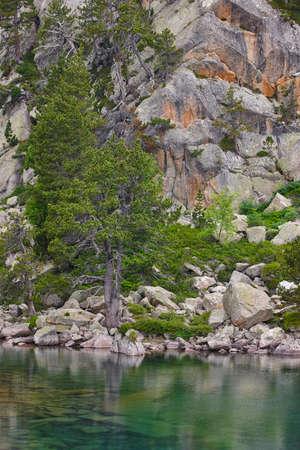 Aigues tortes national park forest landscape. Gerber route. LLeida, Spain