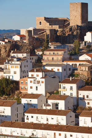 Traditional white village houses in Andalucia. Hornos. Spain 스톡 콘텐츠