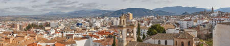 Panoramic view of traditional spanish andalusian town of Jaen. Spain