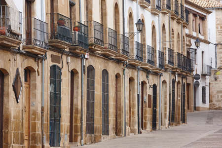 Traditional street with stone facades in andalucia. Ubeda, Spain Stock Photo