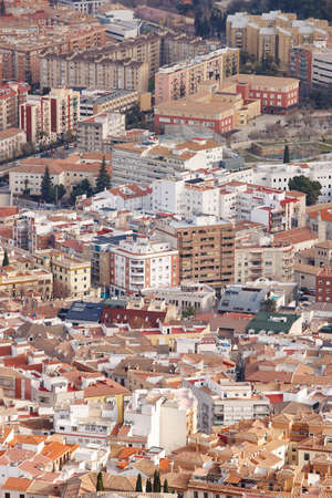 Jaen aerial view. Traditional town in Andalucia