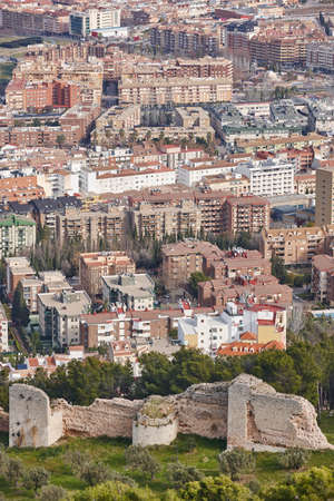 Jaen aerial view. Traditional town in Andalucia. Spanish cultural