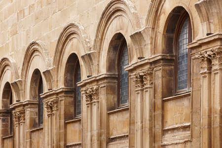 Casa Consistorial stone arches. Jaen, Spain