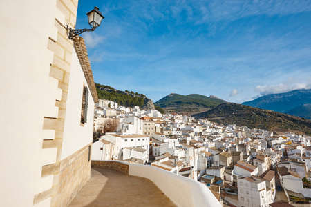 Traditional andalusian white village in Jaen. Torres, Spain tourism