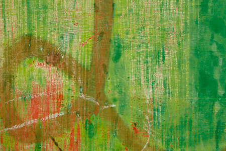 Green grunge metallic textured and abstract background. Horizontal Stock Photo