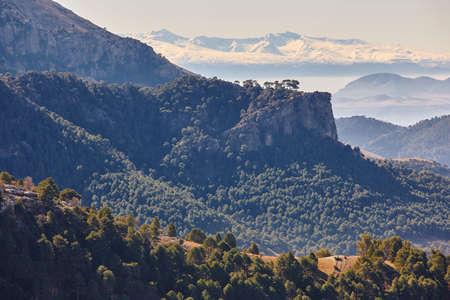 Mountain and forest landscape in Sierra Cazorla, Jaen. Spain Stock Photo