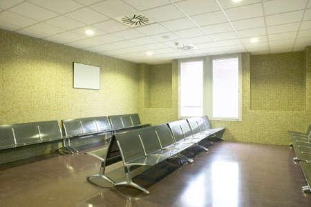 Public building waiting area. Hospital interior. Nobody. Horizontal Archivio Fotografico