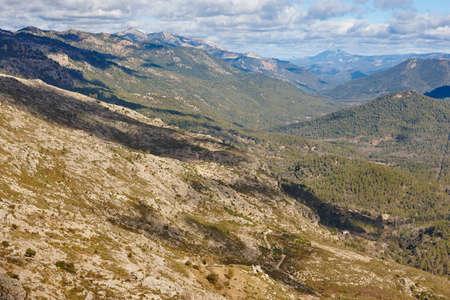 Mountain landscape in Cazorla Natural Park. Guadalquivir valley, Jaen 스톡 콘텐츠