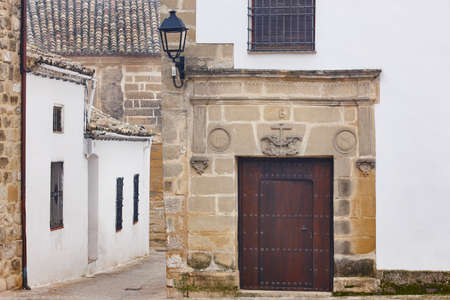 Antique alley and chapel in Baeza, Jaen, Spain