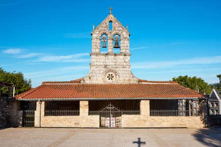 Traditional church in Ribeira Sacra. Bolmente, Lugo. Spain. Unesco heritage