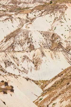 Badlands landscape in Gebas. Murcia. Trekking in Spain