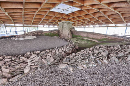 Ancient megalithic dolmen structure in Dombate, A Coruna. Galicia Stock Photo