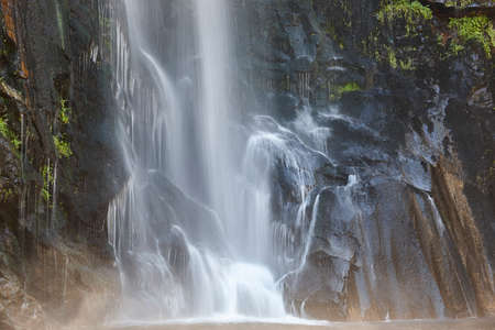 Waterfall detail in Galicia, Fervenza de Toxa. Ribeira Sacra. Spain Archivio Fotografico