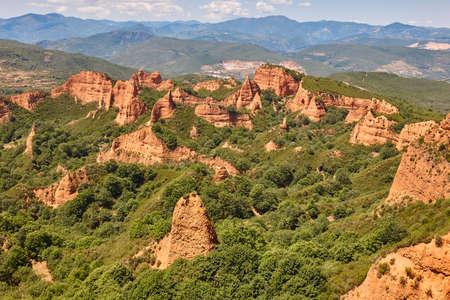 Roman antique gold mine in Spain. Las Medulas. Stock Photo