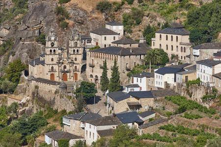 Ribeira sacra. As Ermidas village with antique church. Galicia, Spain Stock Photo