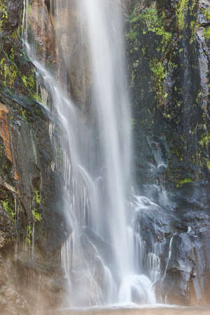 Waterfall detail in Galicia, Fervenza de Toxa. Ribeira Sacra. Spain