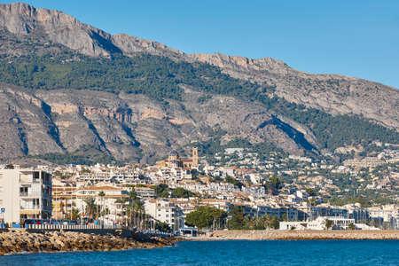 Spanish traditional mediterranean coastline in Alicante. Altea scenic village
