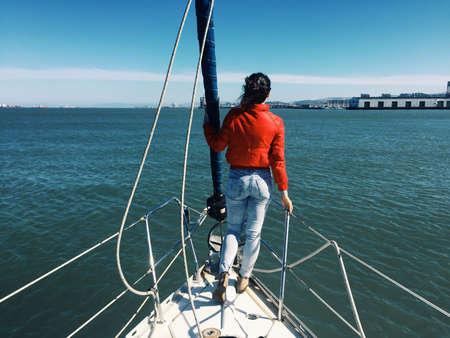 sf: Water dog sailing the SF Bay