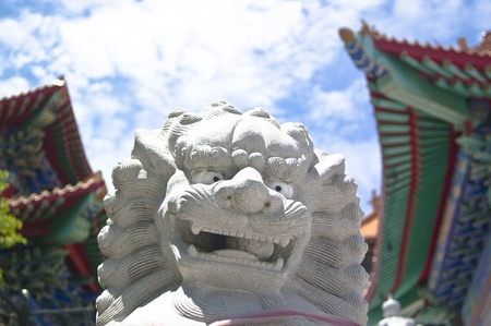 Chinese lion statues Stock Photo - 12184046