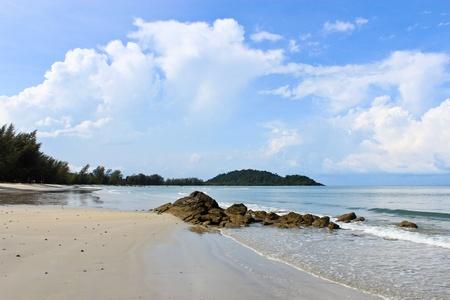Rocks on the beach Trat Thailand. photo