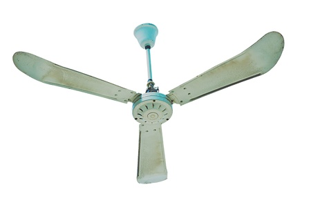 Three blades Ceiling fan isolated photo