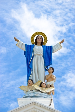 virgin girl: Virgin Mary statue  Stock Photo
