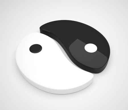 yin and yang symbol like 2 semi gloss pieces photo