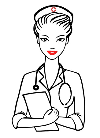 vector nurse with smile Stock Vector - 13037012