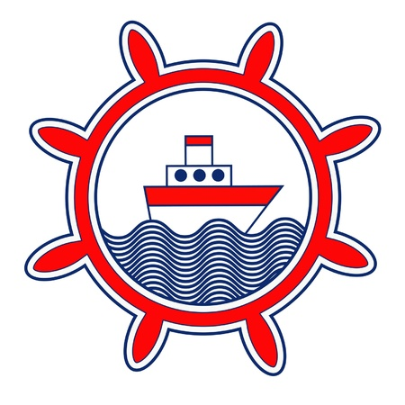 Bullauge mit Boot