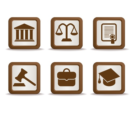 barrister: law icons Illustration