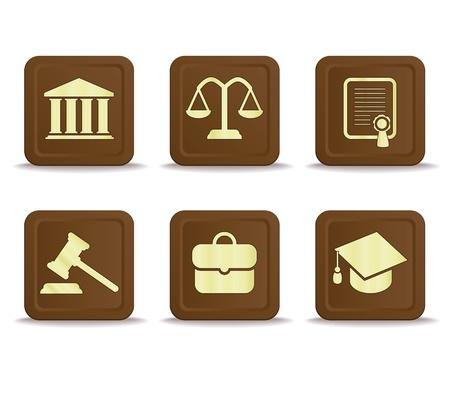 martillo juez: Iconos de la ley Vectores