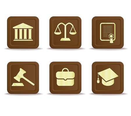 law icons Stock Vector - 15487658