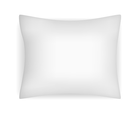 Vector illustration of blank realistic pillow