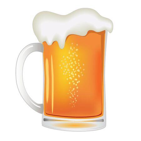 soda splash: illustration of beer Illustration