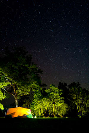 camping and star