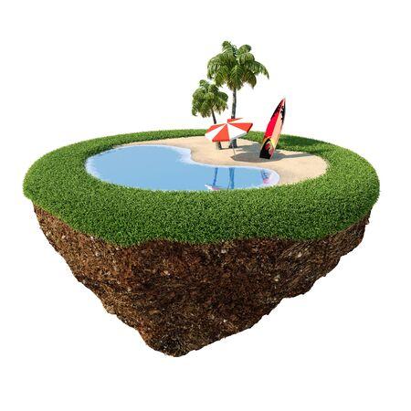 Green peace island beach Stock Photo