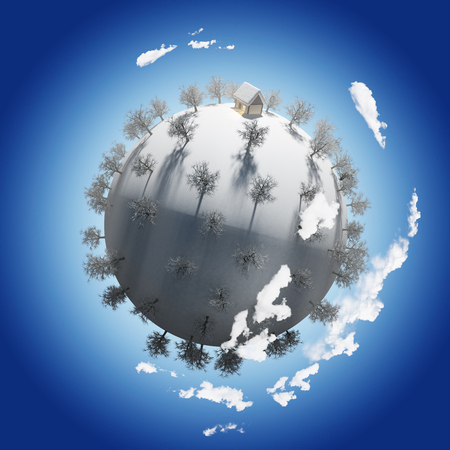 Winter Planet Stock Photo