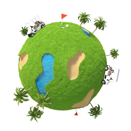 Planet Golf Stock Photo