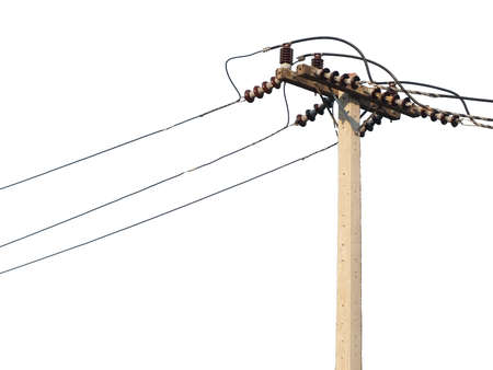utility pole: Electricity post