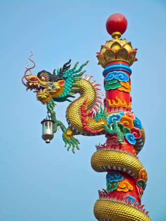 Dragon Pole Stock Photo - 12942490