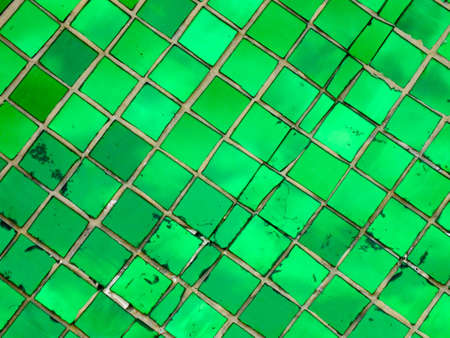 Green stained glass background photo