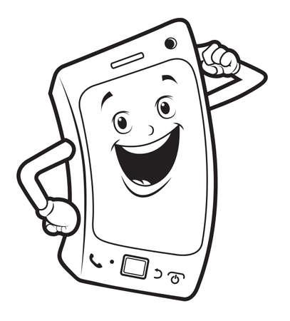 Colorear El Teléfono Celular Ilustraciones Vectoriales Clip