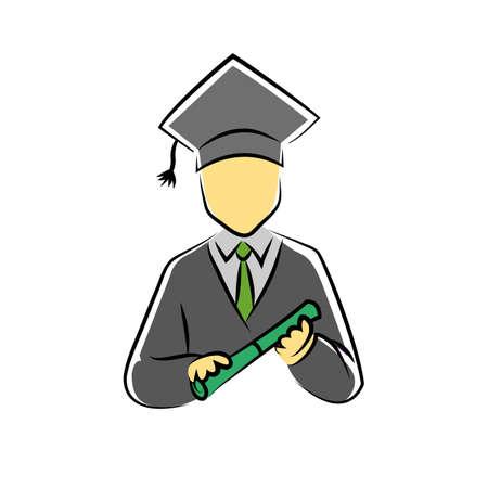 scholar: scholar symbol Illustration