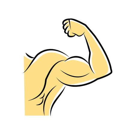 muscular: muscular hand