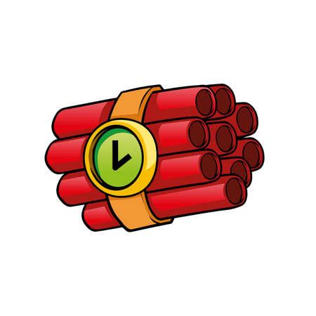 bomb: time bomb Illustration