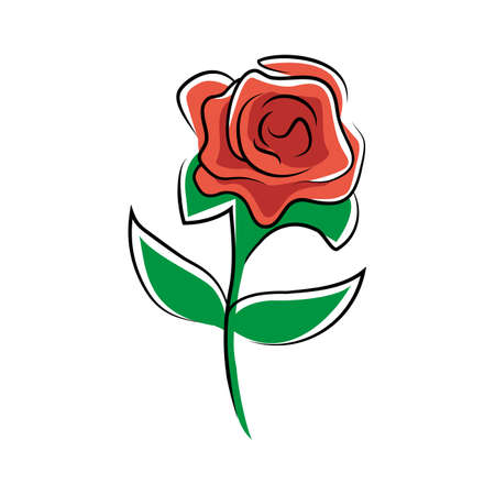 red rose: red rose flower symbol