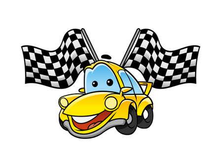 car race tournament Illustration