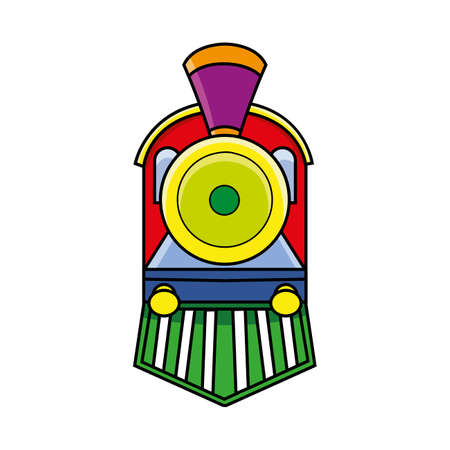 front of: locomotive train front view